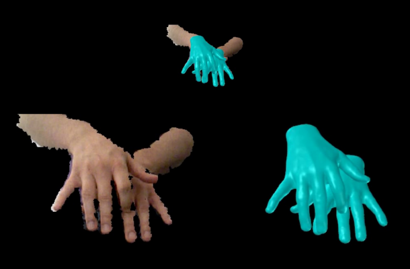 Capturing Hand Motion with an RGB-D Sensor, Fusing a Generative Model with Salient Points